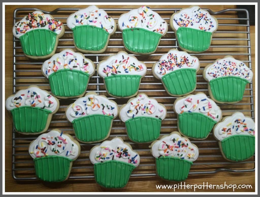 green cupcake cookies