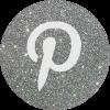 pinterest silver round social media icon