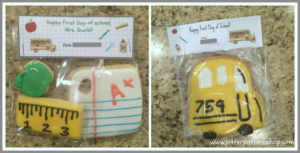 school teacher and bus cookies