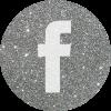 silver round social media icon facebook